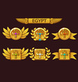 receiving cartoon game achievement egyptian vector image vector image