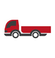 red and black truck vector image vector image
