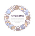 sauna steam bath room banner with vector image vector image
