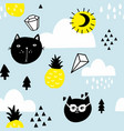 scandinavian style seamless pattern with vector image vector image