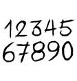 scratch number vector image