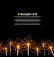 seamless background sparkler vector image