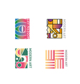 set geometric abstract logo of modern vector image vector image