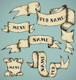 Set of parchment ribbons vector image