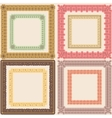 Set of vintage calligraphic frames vector image vector image