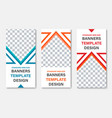 set vertical white web banners with place vector image
