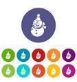 snowman icon simple black style vector image vector image