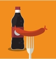 Soda and sausage of fast food concept vector image vector image