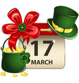 st patricks day calendar vector image