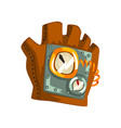 steampunk leather glove with measuring devices vector image vector image