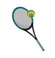 tennis racket design vector image vector image