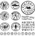 Vintage stamps and labels vector image vector image