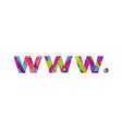 www dot concept retro colorful word art vector image vector image
