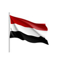 yemen national flag realistic vector image vector image