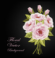 beautiful bouquet of roses vector image