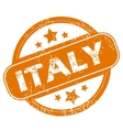 Italy grunge icon vector image