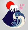 Mt Fuji Design vector image