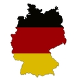 Germany State flag and map vector image