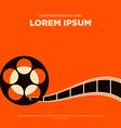 Retro movie poster flat design vector image