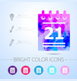 calendar icon with infographic elements vector image