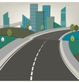 01 Road landscape vector image vector image