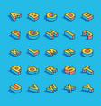 3d alphabet letters set vector image vector image