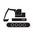 backhoe loader black concept icon backhoe vector image vector image