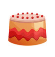 beautiful delicious decorative cake with glaze vector image