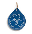 blue trinket icon realistic style vector image