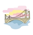 Bridge icon in cartoon style isolated on white vector image vector image