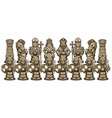 chess cartoon figures white vector image
