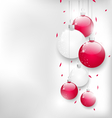 Christmas card with colorful glass balls and vector image vector image