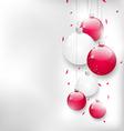 christmas card with colorful glass balls