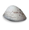 clam on a white background vector image vector image