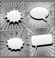 comic book gray template vector image vector image