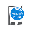 connect phone signal logo concept design symbol vector image