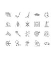 distance line icons signs set outline vector image vector image