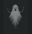 evil ghost scaring with frightening face vector image vector image
