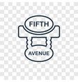 fifth avenue concept linear icon isolated on vector image