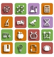 Flat School Icons Set With Shadow Vol 2 vector image