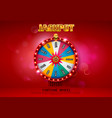 fortune wheel spinning on bokeh background vector image