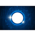 futuristic blue circle digital technology vector image vector image