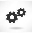 gearwheels simple icon vector image vector image