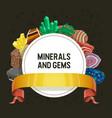 gem mineral crystalline stone precious vector image vector image