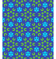 geometric abstract colorful mosaic green blue vector image vector image