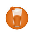 glass of carrot juice vector image vector image