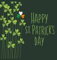 happy st patricks day shamrocks retro design vector image vector image