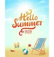 hello summer poster summer inscription vector image vector image