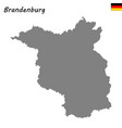 high quality map is a state of germany vector image vector image