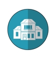 house traditional detailed modernn blue circle vector image vector image